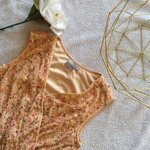 ASOS Faux Wrap Sequin Maternity dress